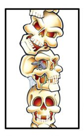 Колона от черепи 2м.