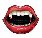 "Голям фолиен балон Вампирска уста  23""- 58 см. х 27"" - 68см."