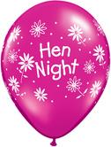 "Балони с надпис Hen Night 11""- 28см."