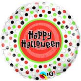 "Фолиен балон с надпис Halloween 18""- 45см."
