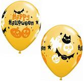 Балони с надпис Halloween 11'' (28см.)