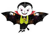"Голям фолиен балон Дракула вампир 30""-76см х 45""-114см."