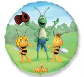 """Фолиен балон пчеличката Мая и приятели  18""""- 45 см."""