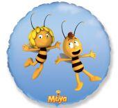 """Фолиен балон пчеличката Мая 18""""- 45 см."""