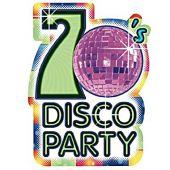 Покани 8бр. Диско парти / Disco party 70- те