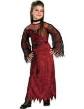 Карнавален костюм Вампирка с брошка