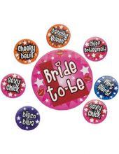 Значки за моминско парти - комплект 8бр.