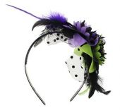 Диадема за Хелоуин (Halloween) с цветя и черепи
