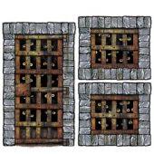 Декорация Врати на клетки с много очи 1бр - 157см. и 2бр. - 107см.