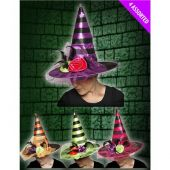 Вещерска шапка -черно и лилаво
