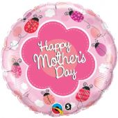 "Фолиен балон с надпис Happy Mother's Day  18""- 45 см."