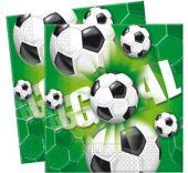 Салфетки с футболни топки 33 x 33 cm.
