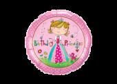 "Фолиен балон с надпис Happy Birthday Princess 18""- 45 см."