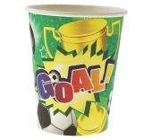 Картонени чаши с футболни топки 270ml/6бр.