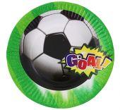 Картонена чиния с Футболни топки - 18см.