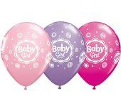 Балон с надпис Baby Girl 11'' (28см.)
