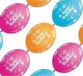 """Балони - Линк 12"""" - 30см. Микс с надпис Happy Birthday"""