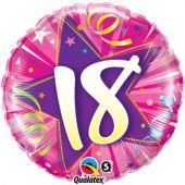 """Цифра 18 розова-   18""""- 46 см."""