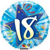 """Цифра 18 синя -   18""""- 46 см."""