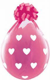 """Балони за подаръци на бели сърца 18"""" - 45см"""