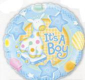 """Балон с надпис It's A Boy / Бебе Момче 18""""- 45 см."""
