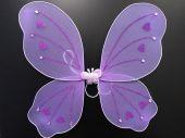 Криле на пеперуда лилави