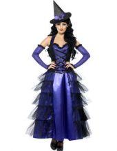 Карнавален костюм Очарователна Вещица в лилаво и черно