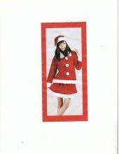 Карнавален костюм Мис Коледа Miss Santa