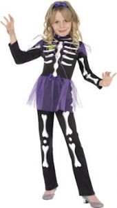 Карнавален костюм Скелет Момиче