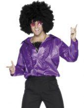 Карнавален костюм Диско лилава риза от 70-те