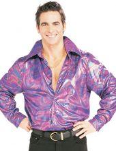 Карнавален костюм Диско многоцветна риза от 70-те