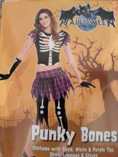 Карнавален костюм - Пънк Скелетка
