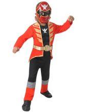 Детски карнавален костюм - Deluxe Red Super Megaforce Power Ranger